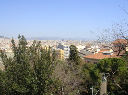 FOTKA - Pohled od muzea na Barcelonu..