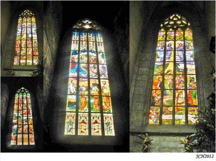 FOTKA - vitráže v chrámu Svaté Barbory