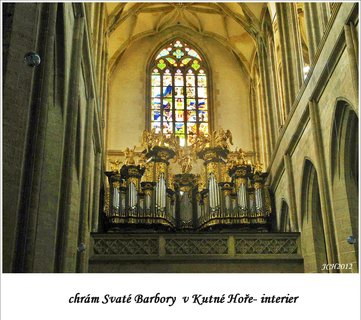 FOTKA - varhany v chrámu Svaté Barbory