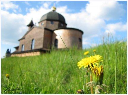 FOTKA - Pampeliška a kaple v pozadí