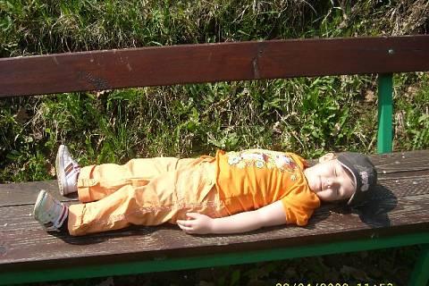 FOTKA - Kája unavená z výletu
