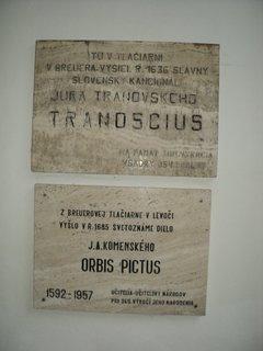 FOTKA - pamätné tabuľky