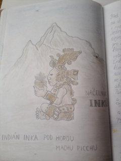FOTKA - obrázek ze čtenářského deníku- indián
