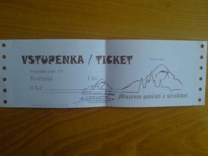 FOTKA - Výhra - vstupenka do muzeua Strašidel a pověstí