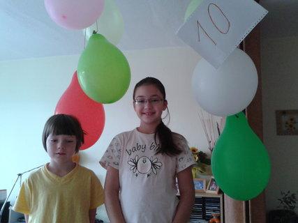FOTKA - Karolínka oslavuje 10.narodeniny