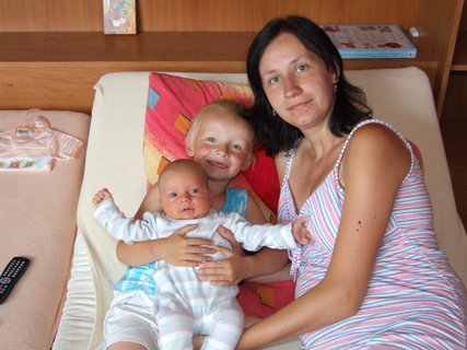 FOTKA - já, Daneček a Karolínka