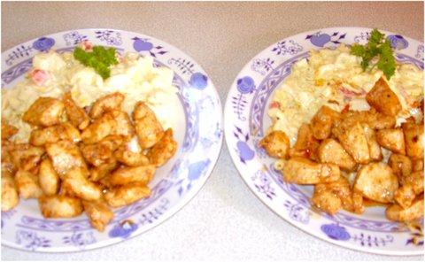 FOTKA - srpnové fotky-3a2-těstovinový salát s kuřetem