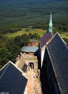 FOTKA - rozhled do krajiny  z věže hradu