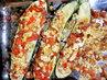 Zapečená cukína (cukína, rajčata, salám, feta)