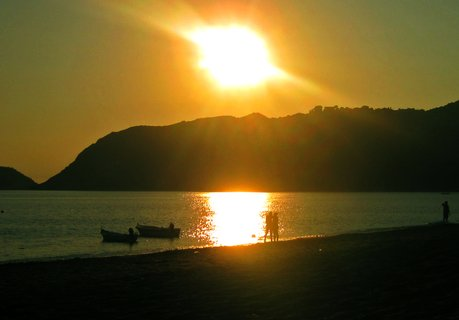 FOTKA - západ slunka na ostrově Korfu