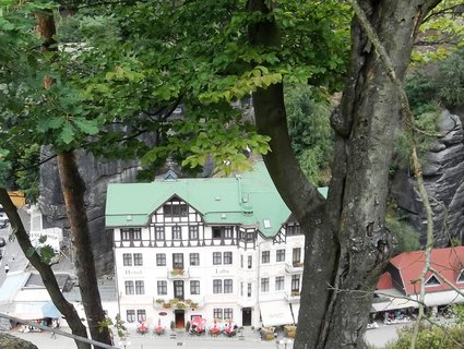 FOTKA - České Švýcarsko, pohled na Hřensko