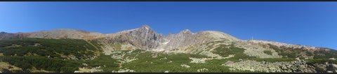 FOTKA - panorama Lomnický štít.