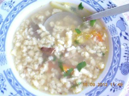FOTKA - polévka slepičí s drobením