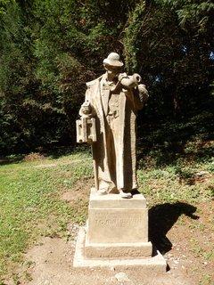 FOTKA - socha Ponocného v Jelením příkopu