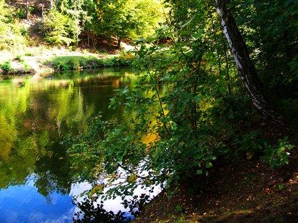 FOTKA - procházka 28.9.2012, Dolnomlýnský rybník u Kunratického lesa...