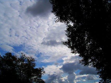 FOTKA - včerejší obloha..