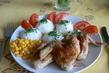 pečen é kuře s rýží