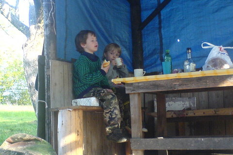 FOTKA - snídaně na chatě