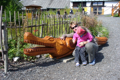 FOTKA - U jezírka s krokodýlem