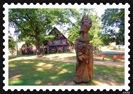 FOTKA - Staré splavy - socha Královny