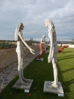 FOTKA - výstava soch Olbrama Zoubka  v prostorách pražského Bastionu