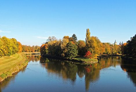 FOTKA - podzimní čas u soutoku Labe s Orlicí