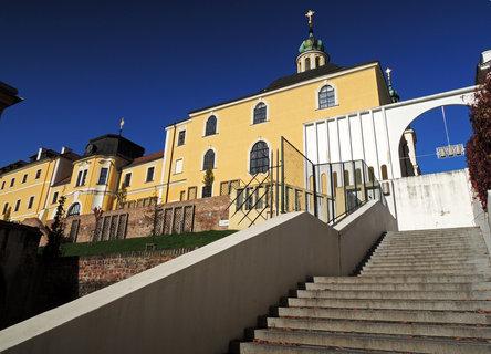 FOTKA - Gočárovo schodiště a historické budovy města