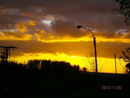 FOTKA - Dnešní západ slunce.........