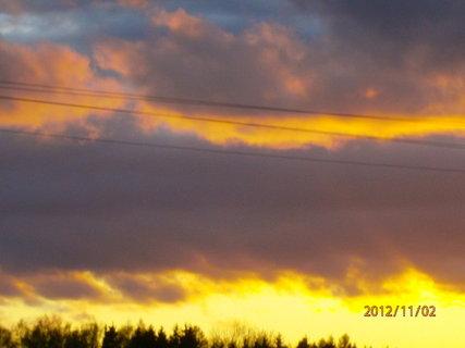 FOTKA - Dnešní západ slunce............