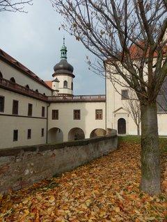 FOTKA - barevní listí už je ze stromů pryč - u zámku v Kostelci nad Černými lesy