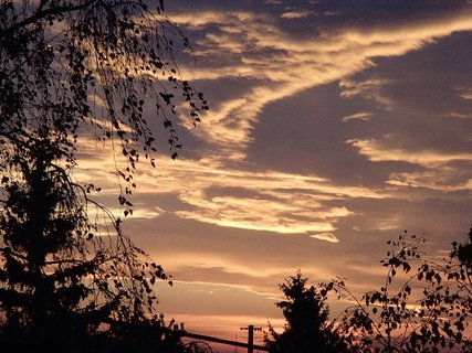 FOTKA - včerajšia obloha