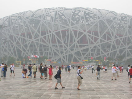 FOTKA - Čína, Peking, OH, smog, Ptačí hnízdo 34
