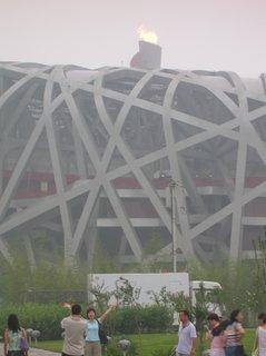 FOTKA - Čína, Peking, OH, smog, Ptačí hnízdo 41