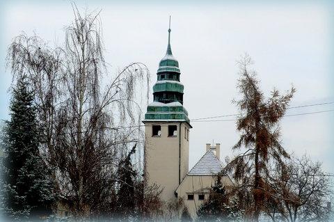 FOTKA - Roudnická zima - evangelický kostel
