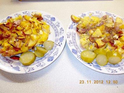 FOTKA - 22-25. 11-2012-7-2-zapečené fr.br, ze syrových brambor, se salámem a uzeným