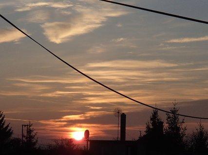 FOTKA - včerajší západ slnka.