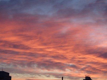 FOTKA - obloha ako žeravá.