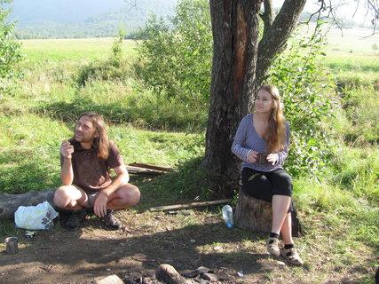 FOTKA - Bukovské vrchy, dcera s manželem na vandru