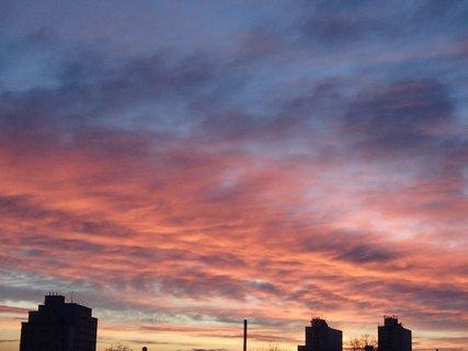 FOTKA - obloha opäť ako v ohni.