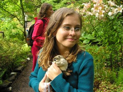 FOTKA - dcera s vydrou, Skotsko