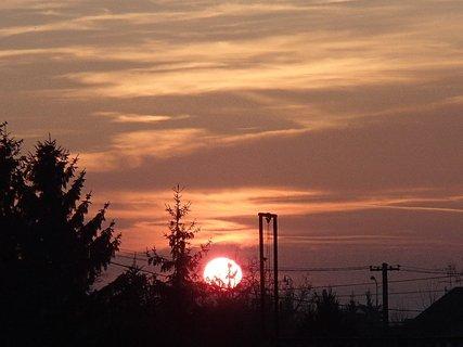 FOTKA - západ slnka 13.01.2013