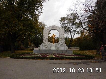 FOTKA - zájezd do Vídně 211, pomník Johann Strauss
