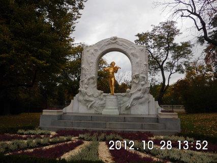 FOTKA - zájezd do Vídně 212, pomník Johann Strauss