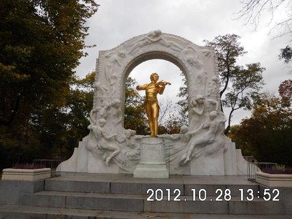 FOTKA - zájezd do Vídně 213, pomník Johann Strauss