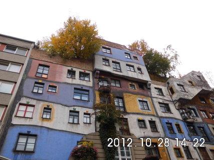 FOTKA - zájezd do Vídně 223, stromy na střeše