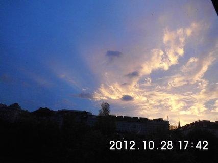 FOTKA - z�jezd do V�dn� 227, podve�ern� obloha