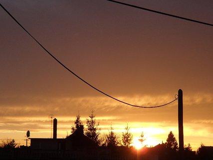 FOTKA - západ slnka 31.1.2013 a