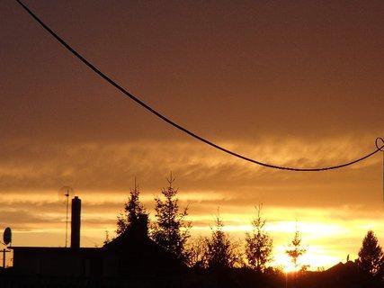 FOTKA - západ slnka 31.1.2013 h