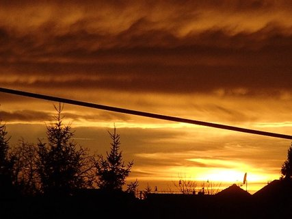 FOTKA - západ slnka 31.1.2013 k