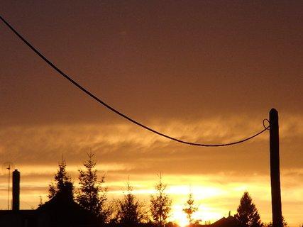 FOTKA - západ slnka 31.1.2013 m